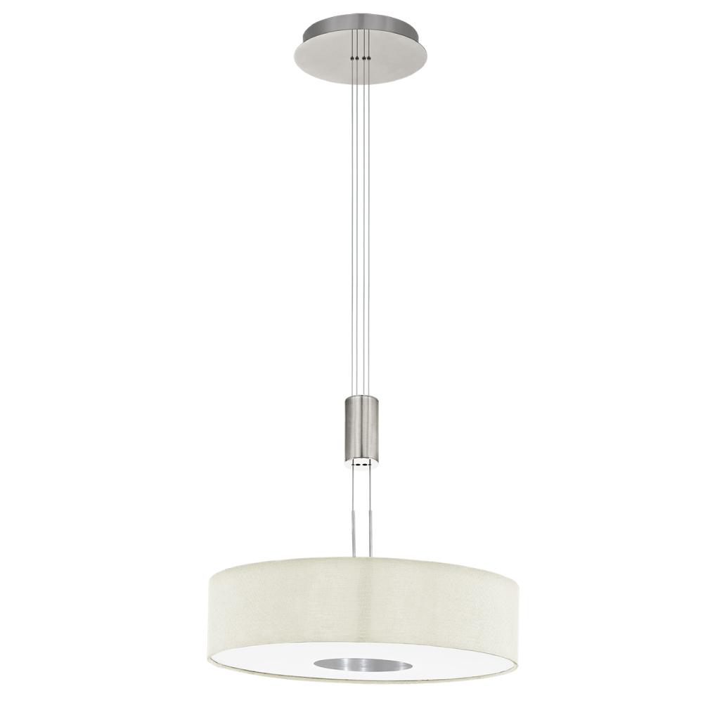 EGLO歐風燈飾 現代風亞麻布圓型吊燈(高度可調式設計)