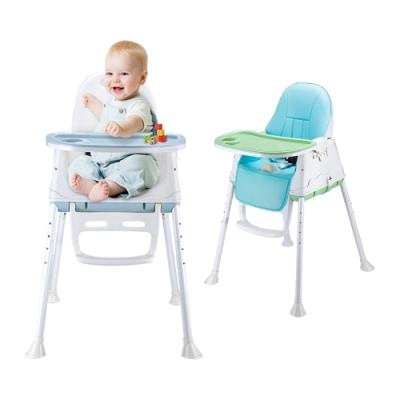 colorland高低可調節兒童餐椅 附贈椅墊+托盤墊