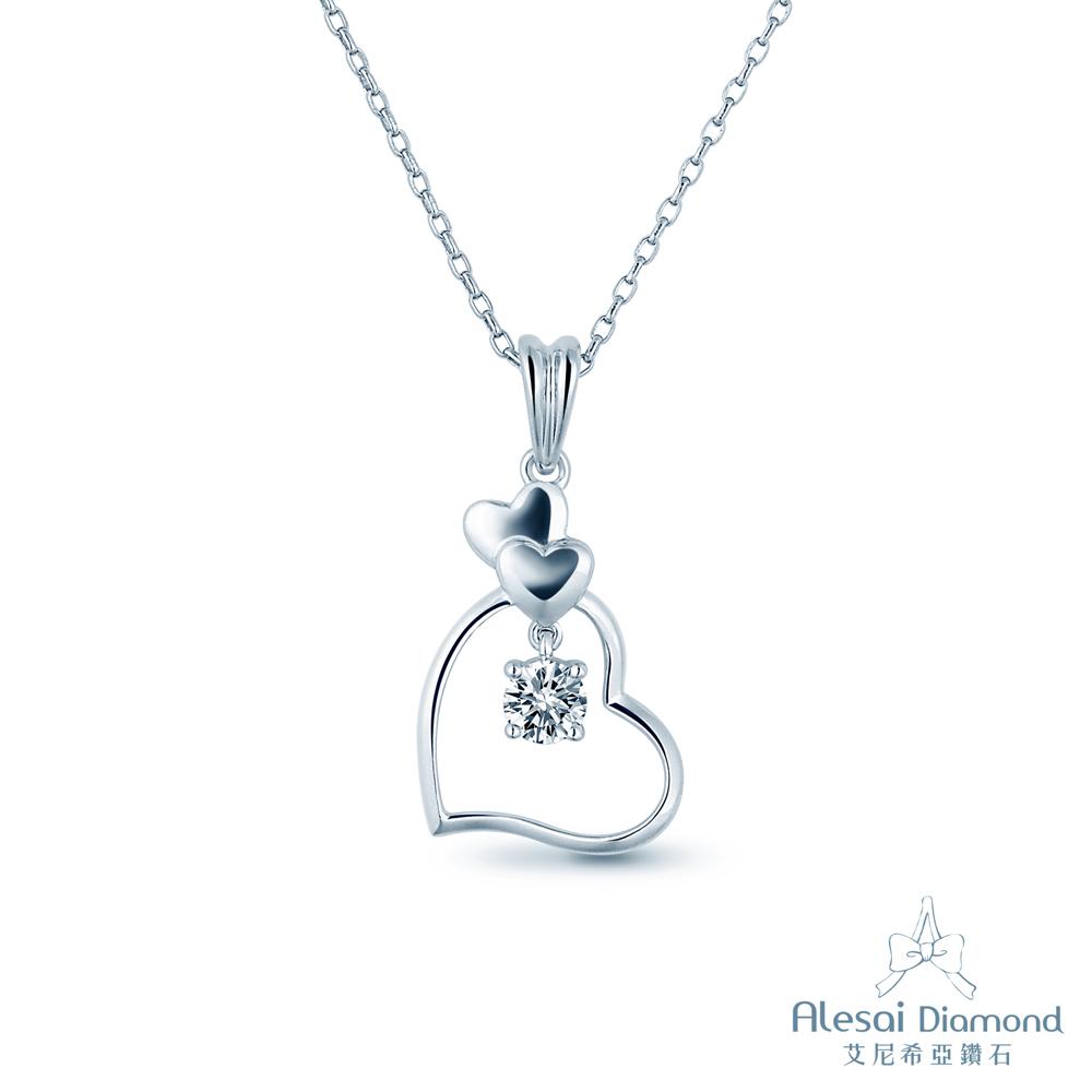Alesai 艾尼希亞鑽石 30分 愛心鑽石項鍊