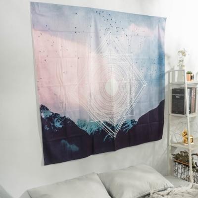 樂嫚妮 裝飾掛毯/掛布/門簾/桌巾-幾何天空 150X130cm