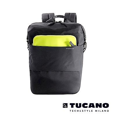 TUCANO MODO 15吋縱橫當代商務後背包(附防雨衣)-黑