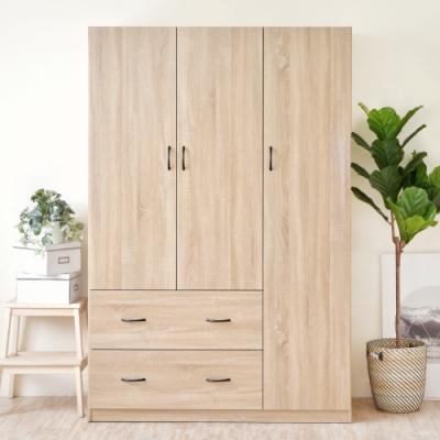 [時時樂限定]《HOPMA》DIY巧收大容量三門二抽衣櫥
