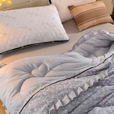 Betrise勿忘星辰 可水洗/機洗 韓國復古輕柔棉銀離子防蹣抗菌羽絲絨暖冬被-大尺寸