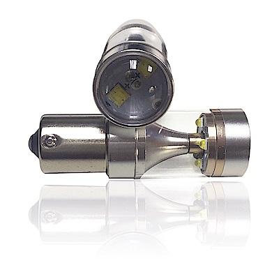 【車的LED】勁亮 1156 斜腳款 爆閃 6LED 魚眼燈 30w 白光(單入組)