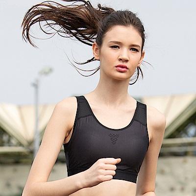 華歌爾-專業時尚 DM-D3L 運動內衣(黑)C-E 罩杯無鋼圈背心式
