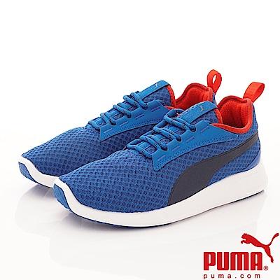 PUMA童鞋 透氣流線運動款 TH64029-11藍(中小童段)