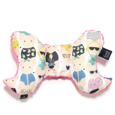 La Millou 天使枕-繽紛萌萌豬-桃氣小甜心-推車汽座枕寶寶護頸枕