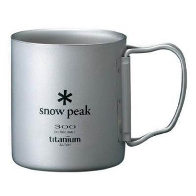 Snow Peak MG-052FHR 鈦合金雙層杯-折疊把手 300ml