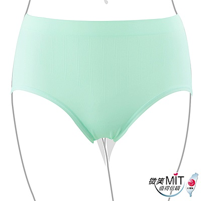 推EASY SHOP-iMEWE 高腰三角褲(淡藍綠)