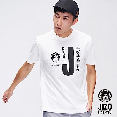 地藏小王 BLUE WAY 奧萊 JIZO家徽短TEE(白)