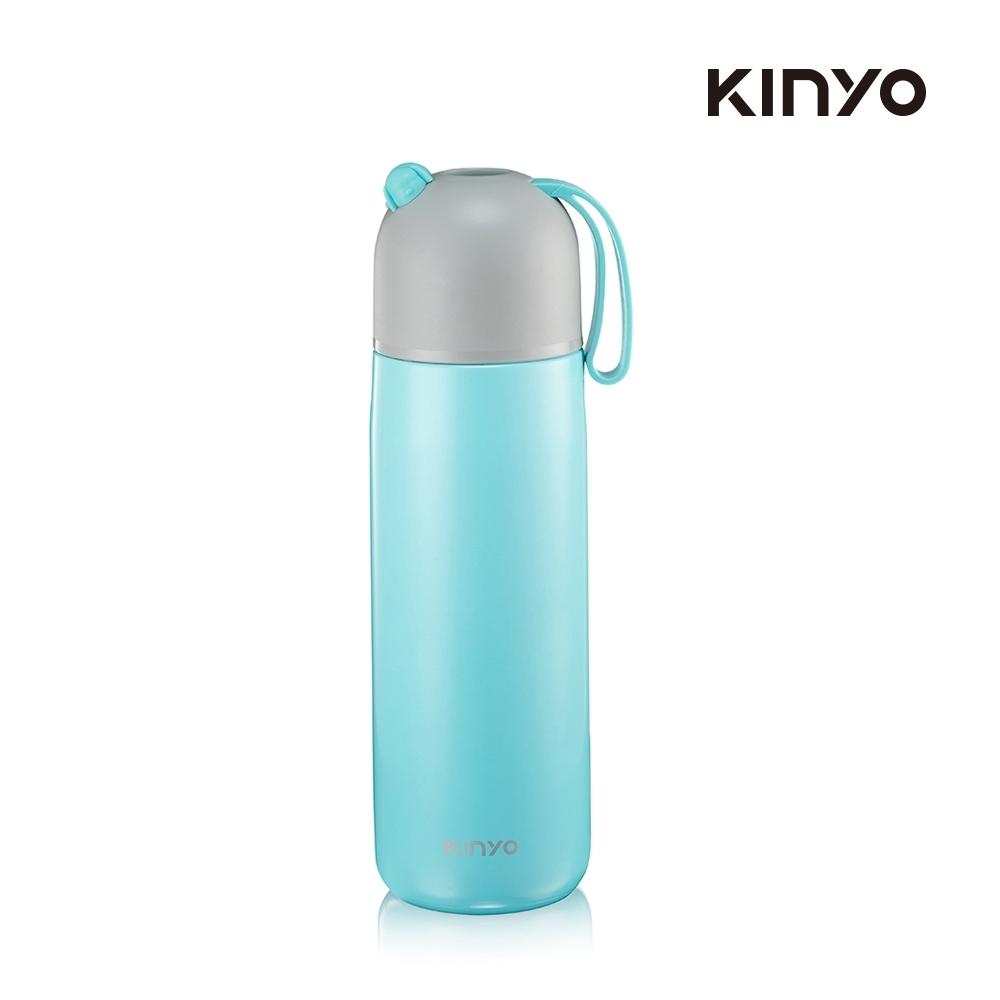 【生活工場】kinyo 不鏽鋼真空保溫杯400ML-藍