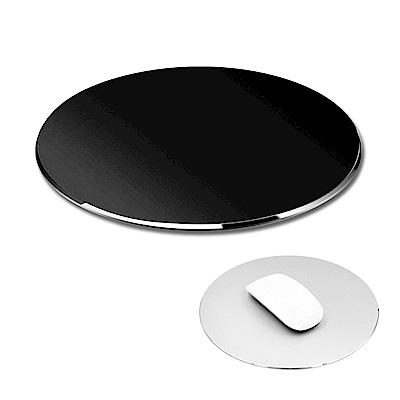 細緻磨砂鋁合金時尚金屬滑鼠墊(圓形)/五色可選