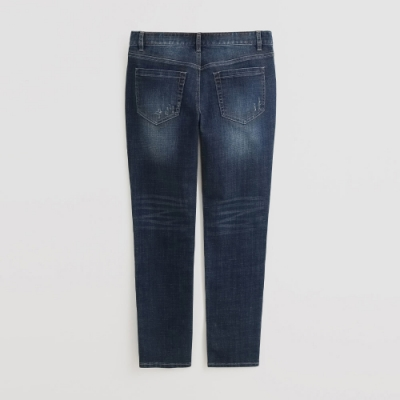 Hang Ten - 男裝 - 自然刷色微磨破牛仔長褲 - 藍
