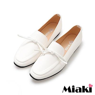 Miaki-樂福鞋小資必buy平底休閒鞋-白