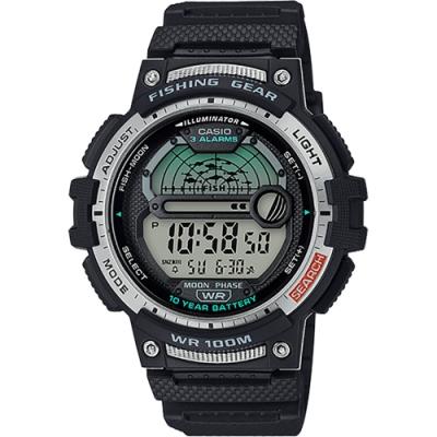 CASIO 卡西歐 釣魚專家 10年電力手錶(WS-1200H-1A)