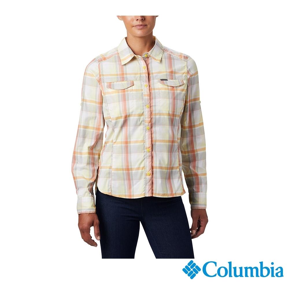 Columbia 哥倫比亞 女款- UPF40快排長袖襯衫-黃色  UAK14980YL