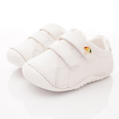 雨傘牌 輕量皮質學步鞋款 EI93207白(寶寶段)