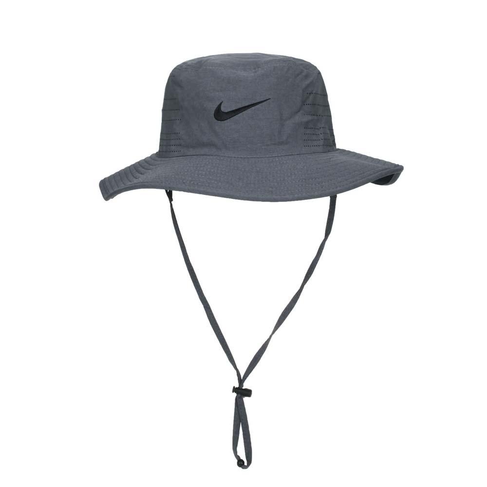 NIKE GOLF 漁夫帽-雙面 水桶帽 台灣製 DRI-FIT UV 遮陽 防曬 AJ5468-010 深灰