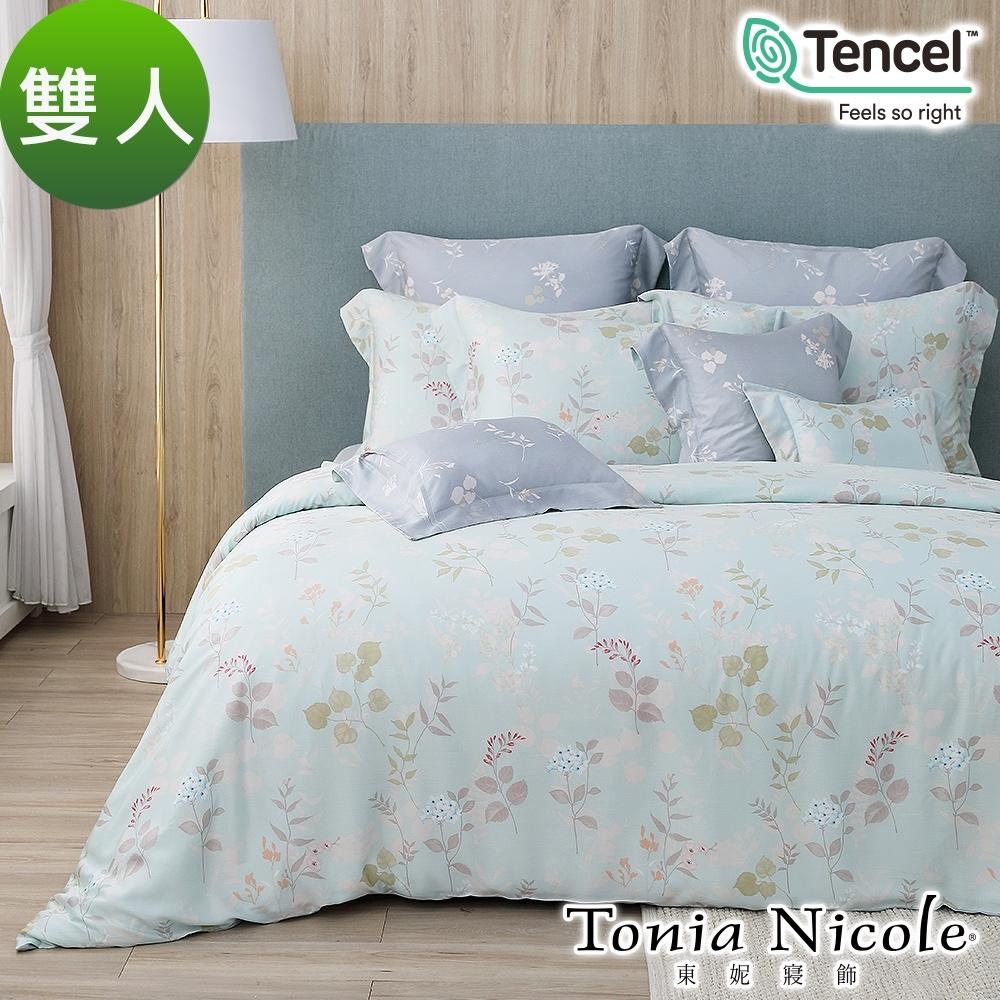 (好康79折結帳再享驚喜)Tonia Nicole東妮寢飾 綠映森活環保印染100%萊賽爾天絲被套床包組(雙人)