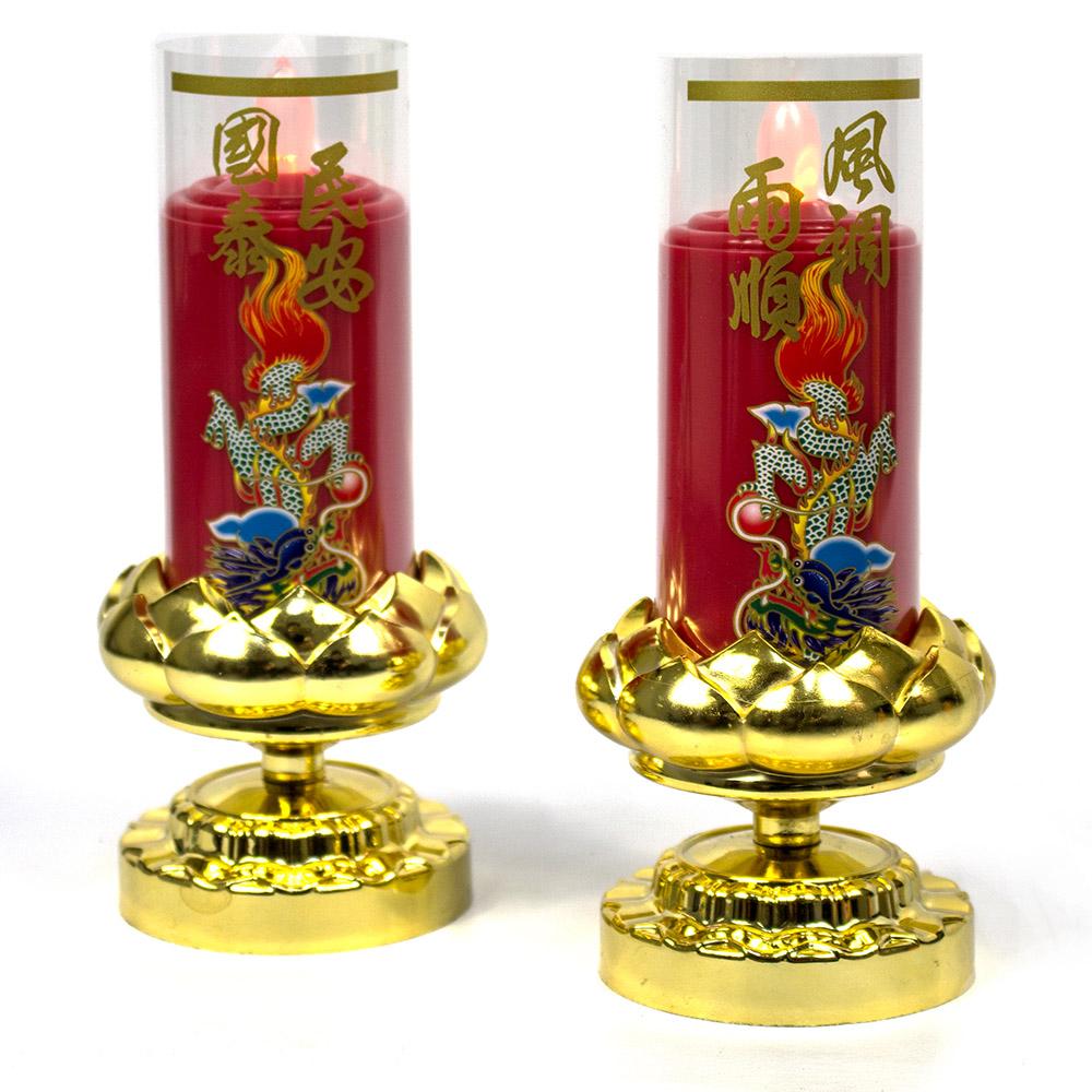 AYAPU 悅亞普電池式環保安全電子蠟燭 -VX-CL938BT-紅
