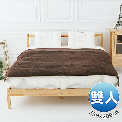 日本藤田 日本發熱吸濕節能兩用毯(咖啡)雙人