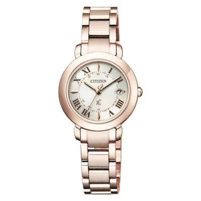 CITIZEN 星辰 XC 限量櫻花粉紅鈦金屬藍寶石碗錶(ES9444-50A)