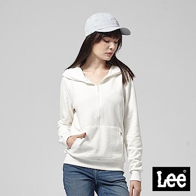 Lee 前開襟長袖連帽TEE恤/RG