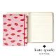 Kate Spade 唇唇欲動紅印皮革筆記本 Notepad Folio,Lips product thumbnail 1