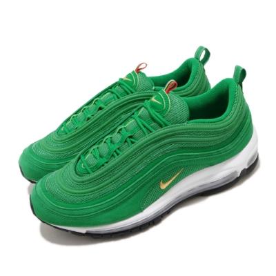 Nike 休閒鞋 Air Max 97 QS 運動 男鞋 經典款 氣墊 避震 麂皮 反光 綠 白 CI3708300