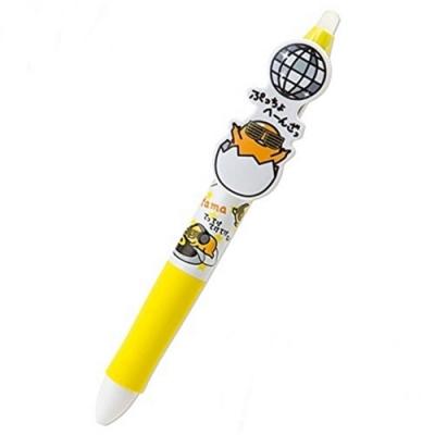 日本PILOT百樂3色魔擦筆Frixion Balll 3擦擦筆原子筆-三麗鷗蛋黃哥D861 GU(藍黑白三色筆芯:0.38mm)日本原裝進口平行輸入