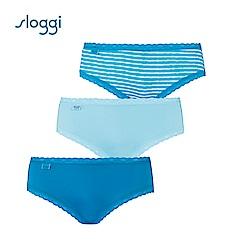 sloggi Weekend 3件裝褲包(藍條紋)