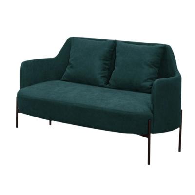 【文創集】阿斯馬 現代亞麻布二人座沙發椅(二色可選)-131x73x77cm免組