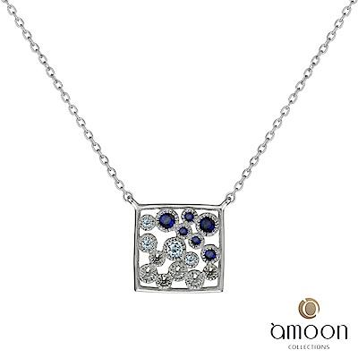 amoon 璀璨星空系列 幻影 K金寶石項鍊-藍寶石款