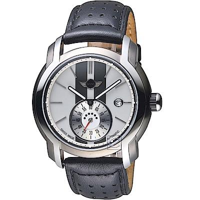 MINI Swiss Watches Cooper復古賽車機械錶(MINI-104E)-白