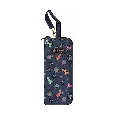 日本Prairiedog 可調式掛勾絨毛超吸水摺疊傘套-貓與星空