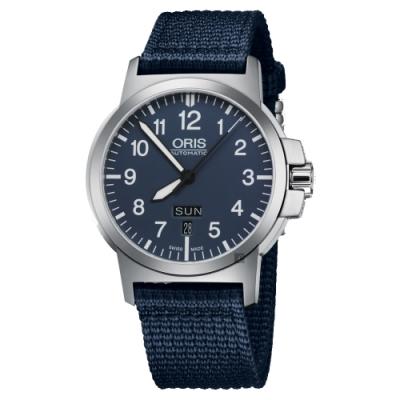ORIS豪利時 BC3 Advanced 日曆星期機械手錶-藍/42mm 0173576414165