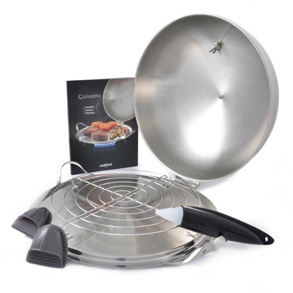 法國mastrad O PLANCHA不銹鋼專業料理鐵板燒盤