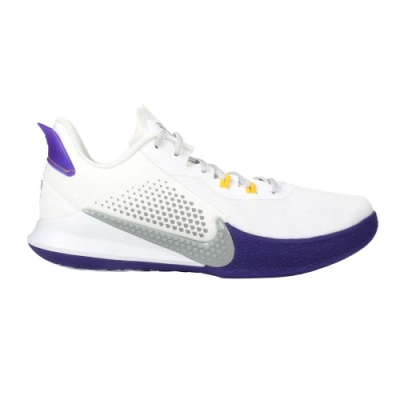 NIKE MAMBA FURY EP 男籃球鞋-KOBE 黑曼巴 XDR 明星款 CK2088101 白紫灰