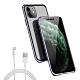 [買手機殼送充電線] iPhone 11 紫色款 金屬 透明 全包覆 磁吸雙面玻璃殼 (iPhone11手機殼 iPhone11保護殼 ) product thumbnail 1