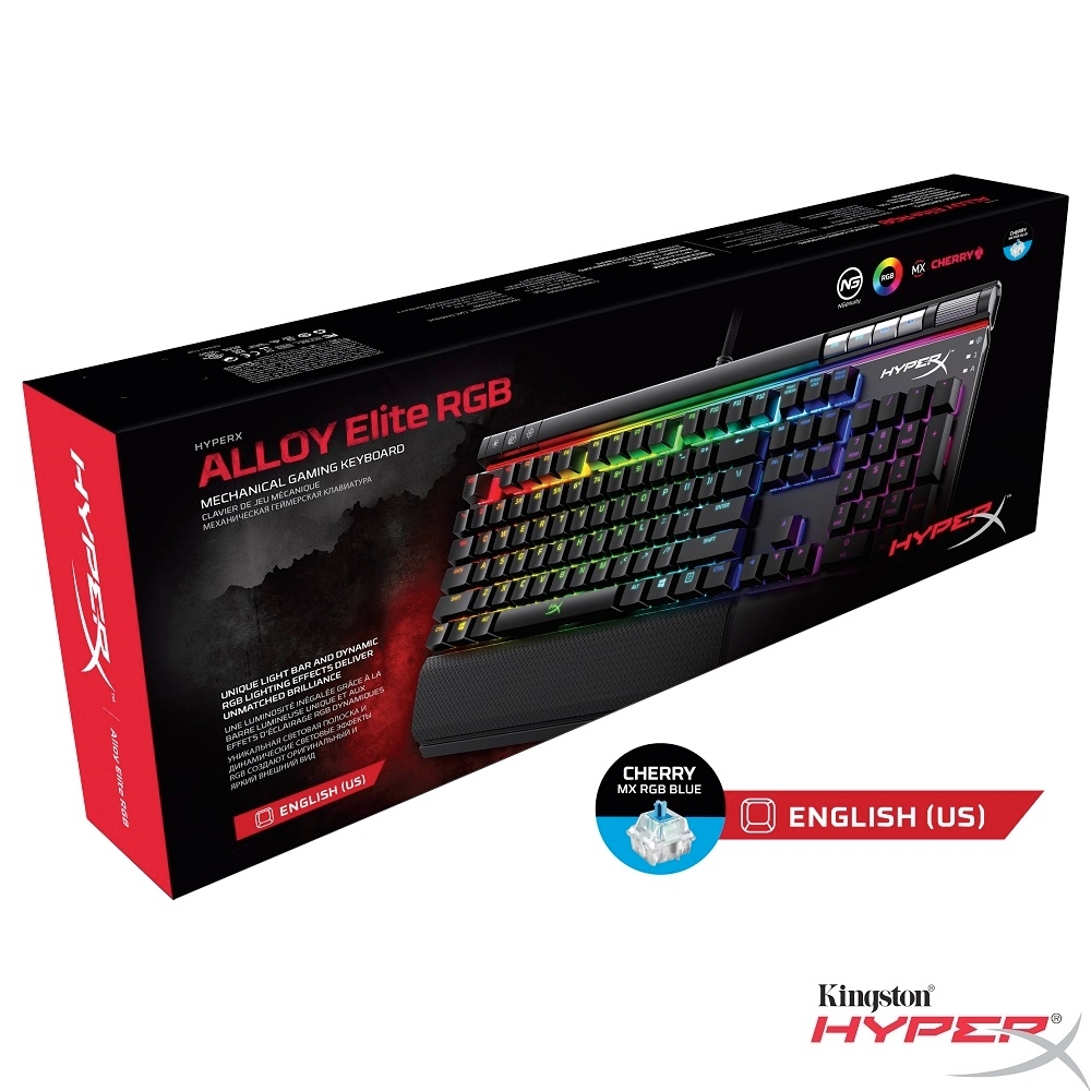 HyperX Alloy Elite 機械式 電競鍵盤 (英文-Cherry MX 青軸)