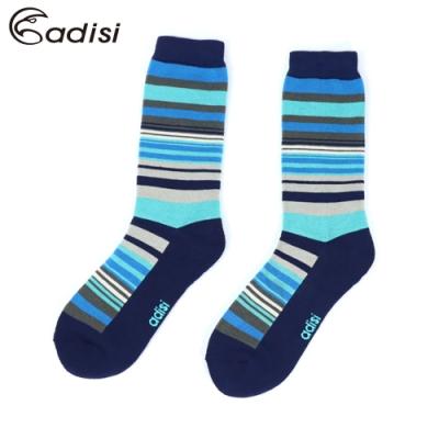 ADISI 條紋保暖對折雪襪 AS17044【深藍】
