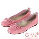 G.Ms. MIT系列-牛皮蝴蝶結方頭娃娃鞋-粉色