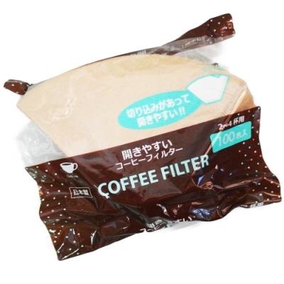 咖啡濾紙-茶色-2~4杯用-100枚入×6包