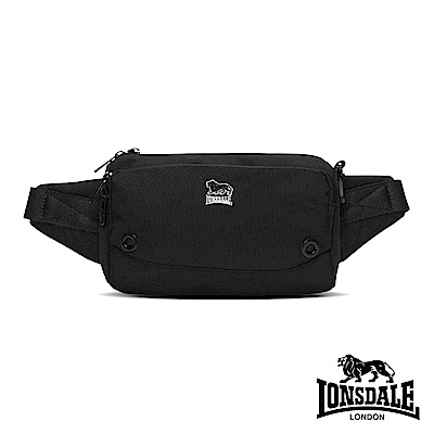 LONSDALE 英國小獅-休閒機能尼龍腰包-黑色 LD1186