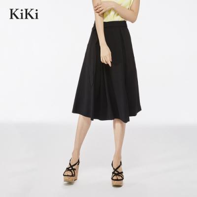 【KiKi】上班族系列素面-長裙(二色)
