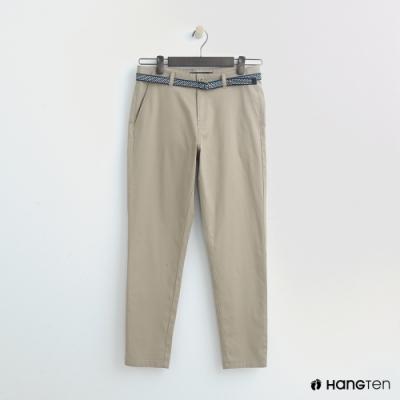 Hang Ten - 女裝 -腰帶造型修身長褲 - 卡其