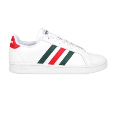 ADIDAS GRAND COURT 男運動休閒鞋-慢跑 愛迪達 皮革 基本款 FW5906 白紅綠