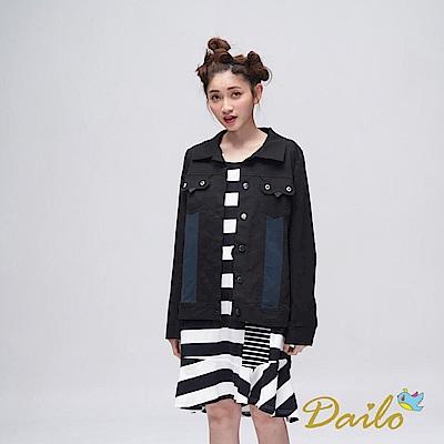 Dailo INLook 小鳥口袋造型夾克(黑色)