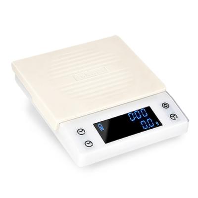 Tiamo CT2000專業計時電子秤 2kg - 簡約白(HK0537W)