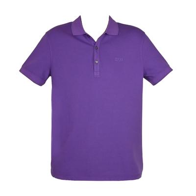 HUGO BOSS 經典標誌配色男款POLO衫-葡萄紫